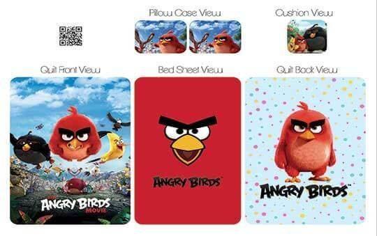 کاور لحاف مدل انگری برد – Angry Birds