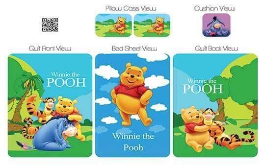 کاور لحاف مدل پوو – Pooh