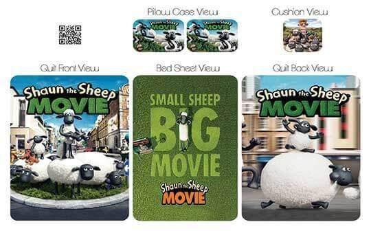کاور لحاف مدل بره ناقلا – Shaun-Sheep