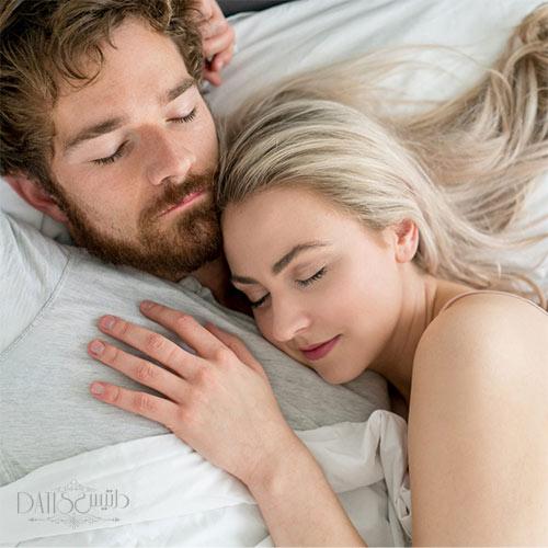 نحوه خوابیدن زوج ها