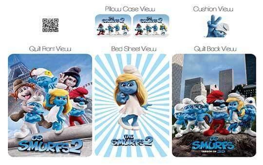کاور لحاف مدل اسمورف – Smurfs
