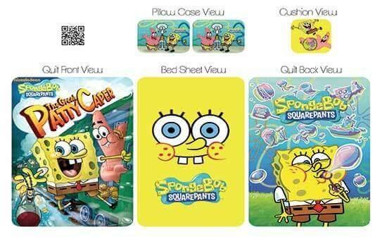 کاور لحاف مدل باب اسفنجی – Sponge-Bob
