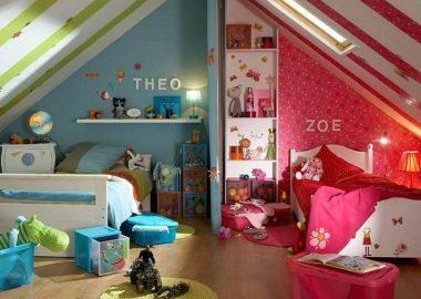 اتاق خواب مشترک دختر و پسر و ترفندهای طراحی آن