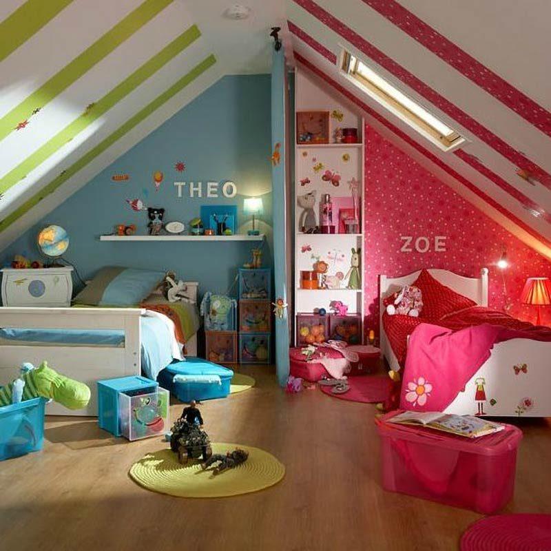 اتاق خواب مشترک دختر و پسر و ایجاد هماهنگی بین علایق کودکان