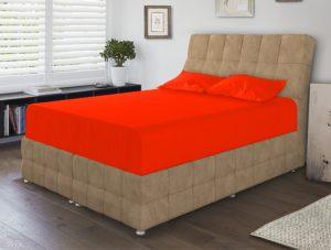 ملحفه تکرنگ - نارنجی روشن