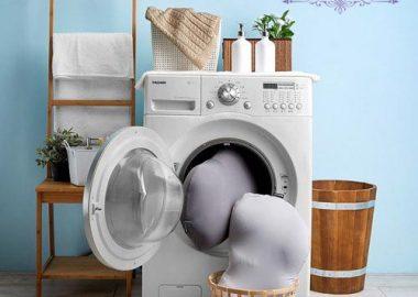 شستن بالش ها و خشک کردن آن ها با دست و ماشین لباس شویی